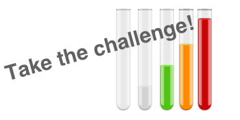 Take the challenge test tubes