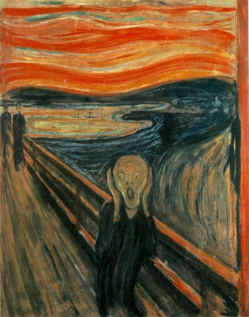 Munch's The Scream - not the best way to present!