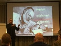 me... presenting with a slide!