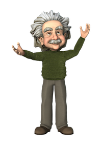 Einstein - mad presenter