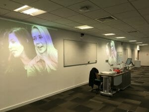 Newcastle University - presentations are a bit easier with two projectors!