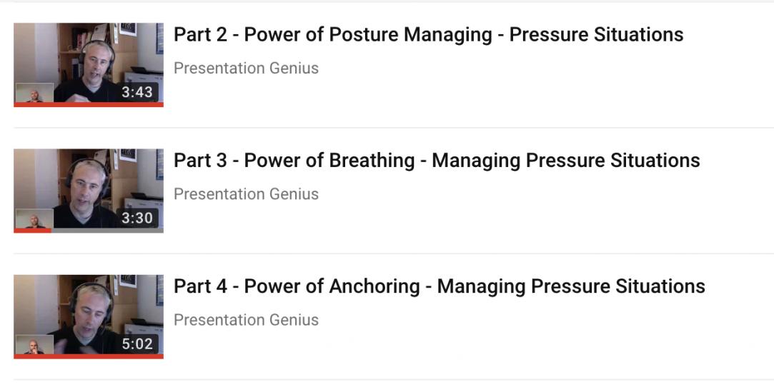 handling nerves in your presentations