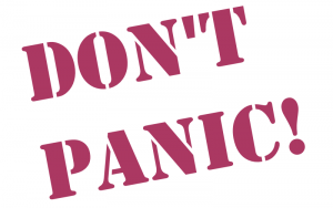 don't panic in your presentation