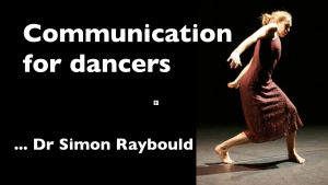 a presentation slide for dancers