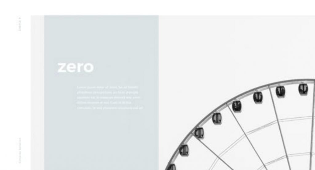 minimalist ferris wheel