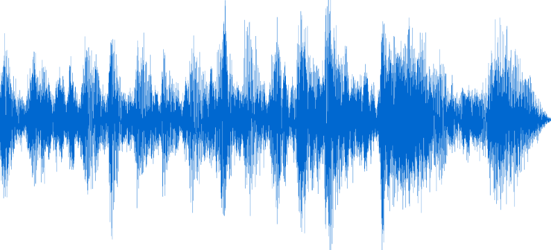 sound wave - recording of me rehearsing a presentation
