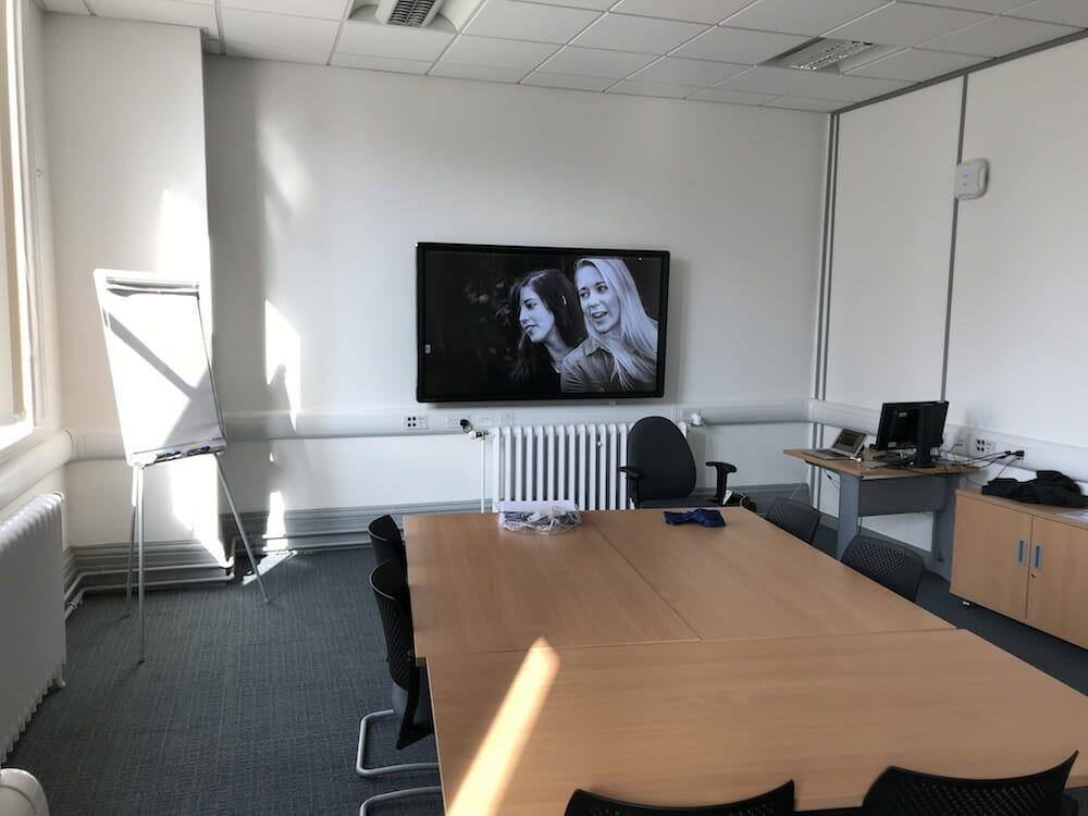 A typical room for presenting in view 1