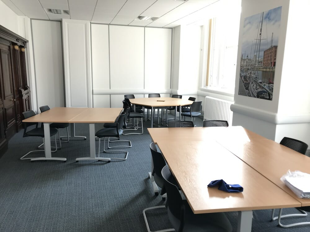 A typical room for presenting - view 2